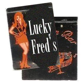 Lucky Fred's matchbook