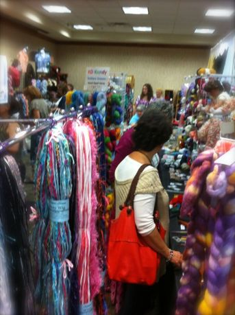The Knitter's Market takes over the conference center (and a few extra rooms and hallways). We picked up yarn and kits and notions. It is fun just to walk through and see all the new options and colors available.