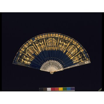 Silk on Ivory fan from the Victoria and Albert Museum