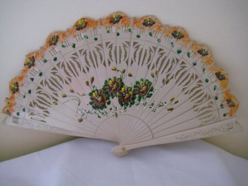 A replica Brise style regency fan found on Etsy.com