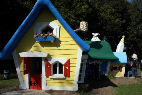 The Three Bears House is one of the newest rescued houses from the Enchanted Forest now at Clark's Elioak Farm.