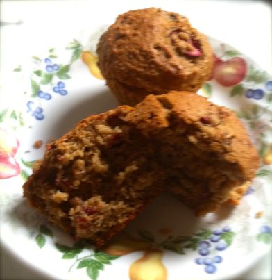 Finished Cranberry Muffins