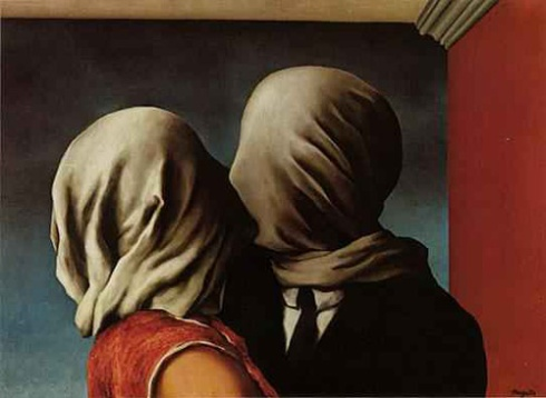 The Two Lovers [Image courtesy: rene-magritte.net]