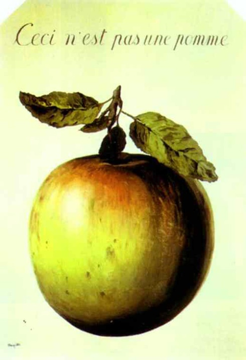 This is Not an Apple, 1964 [Image courtesy: rene-magritte.net]