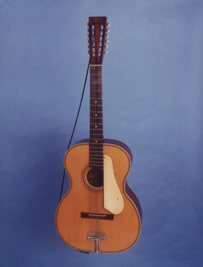 "Lead Belly's guitar, ""Stella"". (Image courtesy the Lead Belly Foundation)"