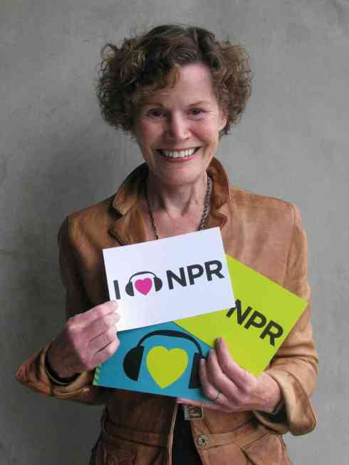 Judy Blume at NPR (Image Courtesy NPR.)
