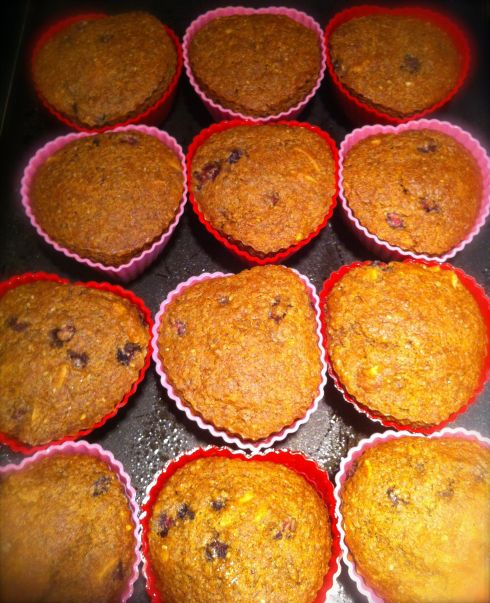 Golden perfection, the muffins fresh from the oven.