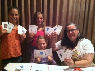 """Nothing sweeter than game time with my nieces. I surprised them with a homemade """"Frozen"""" inspired version of the board game Clue."""